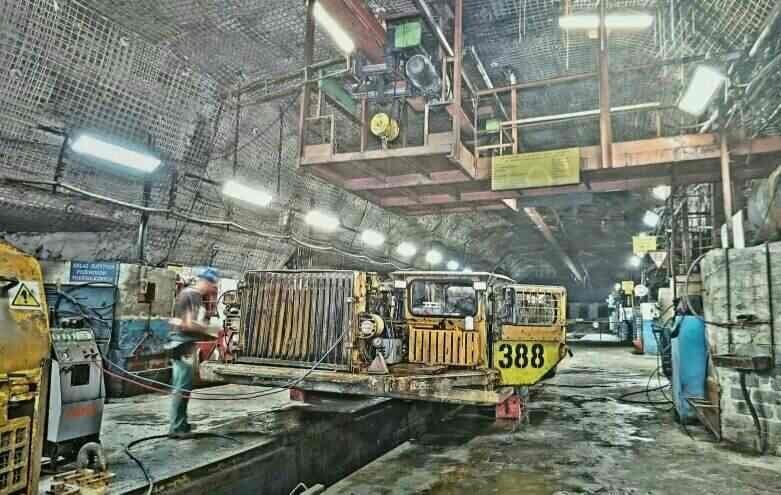 Miejsce w kopalni Rudna, gdzie doszło do zawalenia ziemi