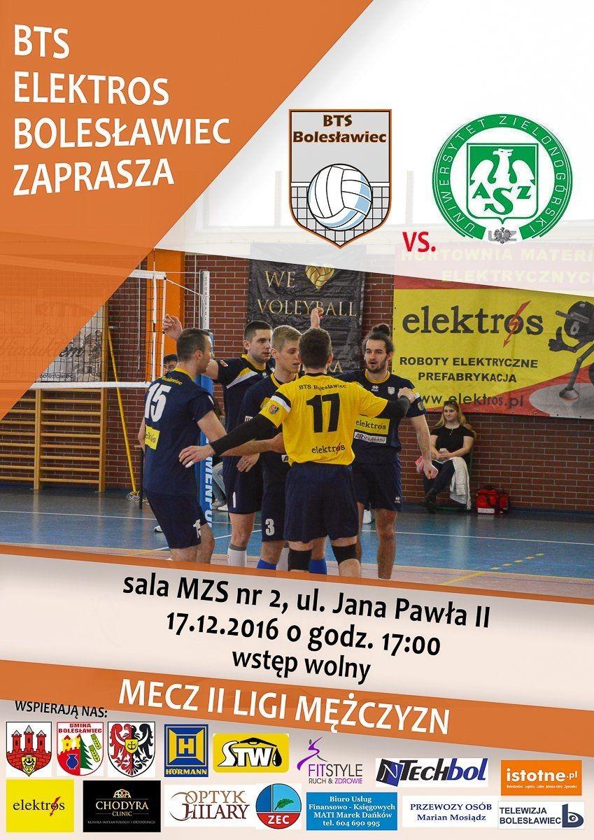 Mecz BTS Elektros Bolesławiec vs AZS Uniwersytetu Zielonogórskiego w tę sobotę