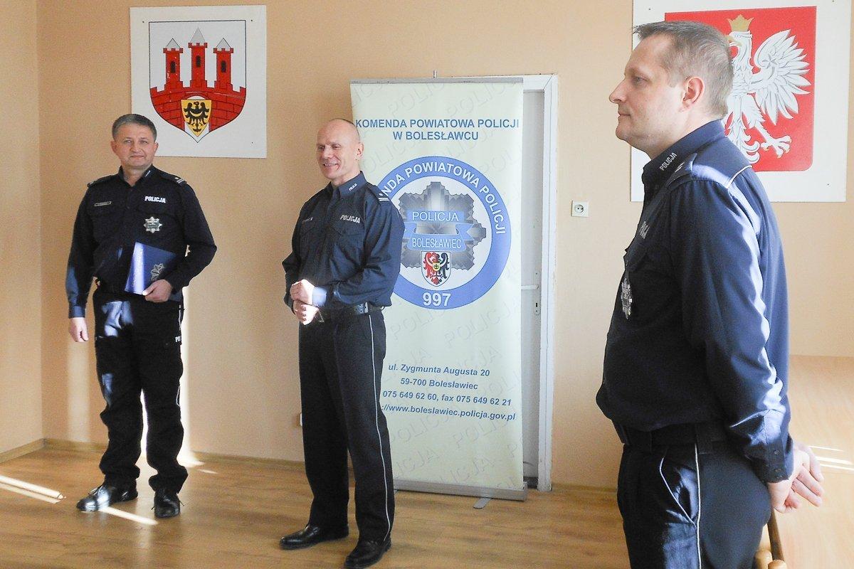 Podinsp. Ryszard Podbucki nowym wiceszefem bolesławieckiej policji