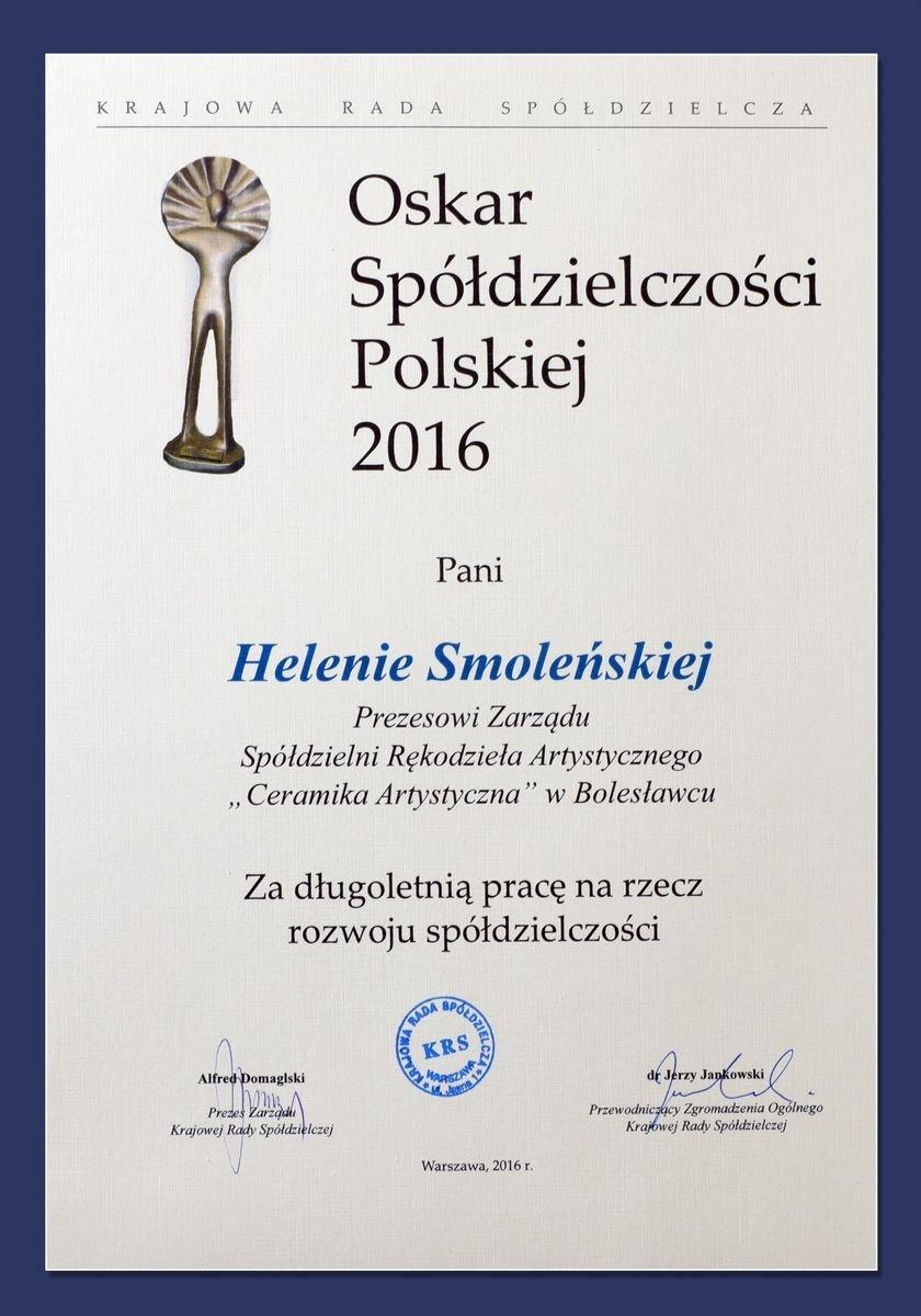 Oskar dla Ceramiki Artystycznej