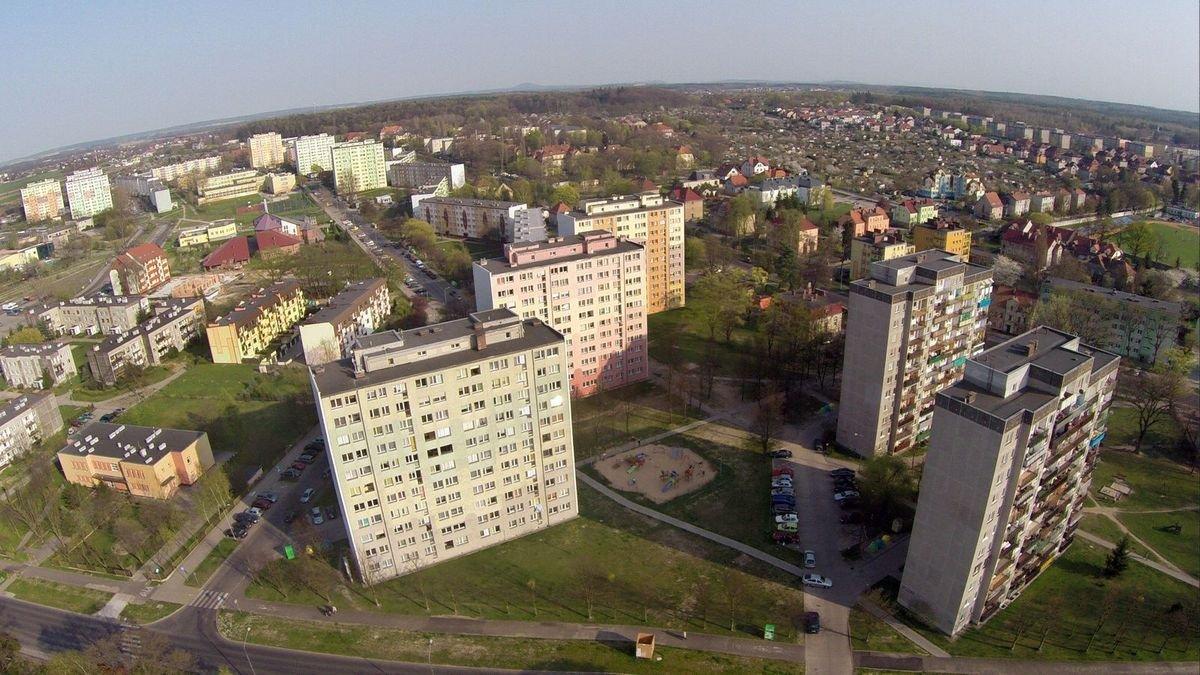 Zdjęcia Bolesławca z lotu ptaka