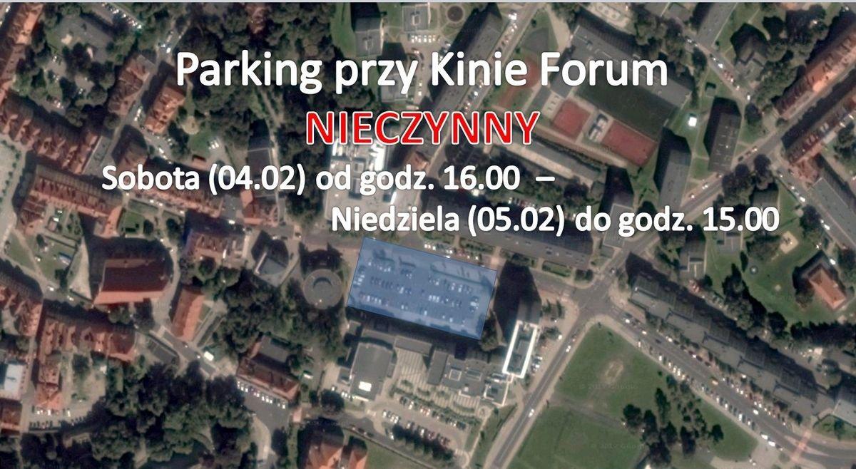 Parking przy kinie Forum będzie czasowo zamknięty