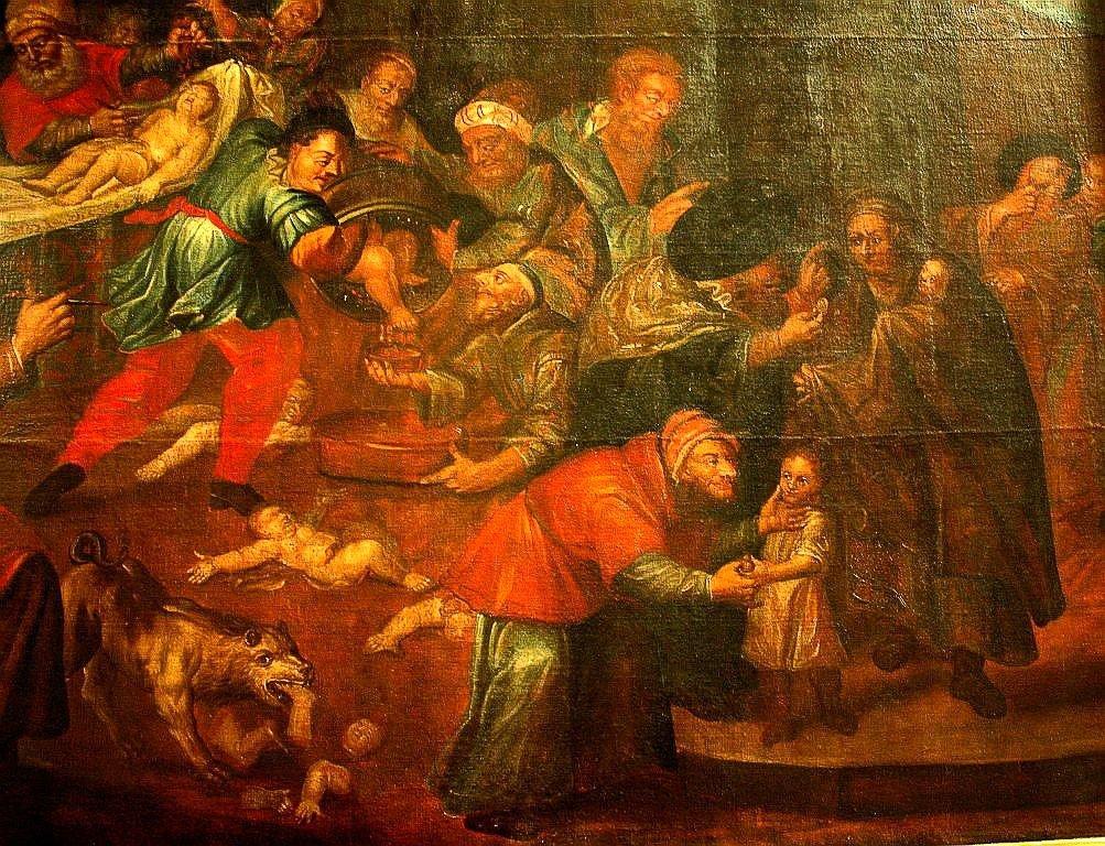 Obraz Karola de Prevot przedstawiający rzekomy mord rytualny