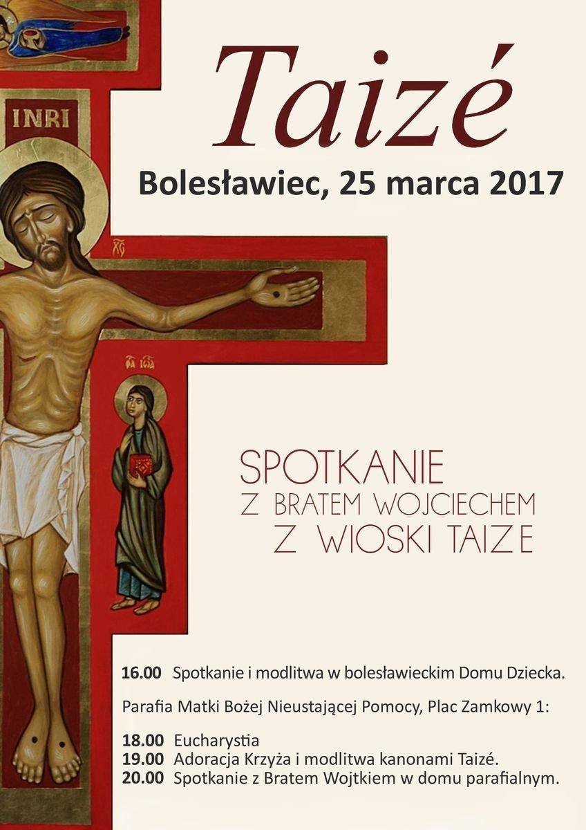 Brat Wojciech z wioski Taizé w Bolesławcu