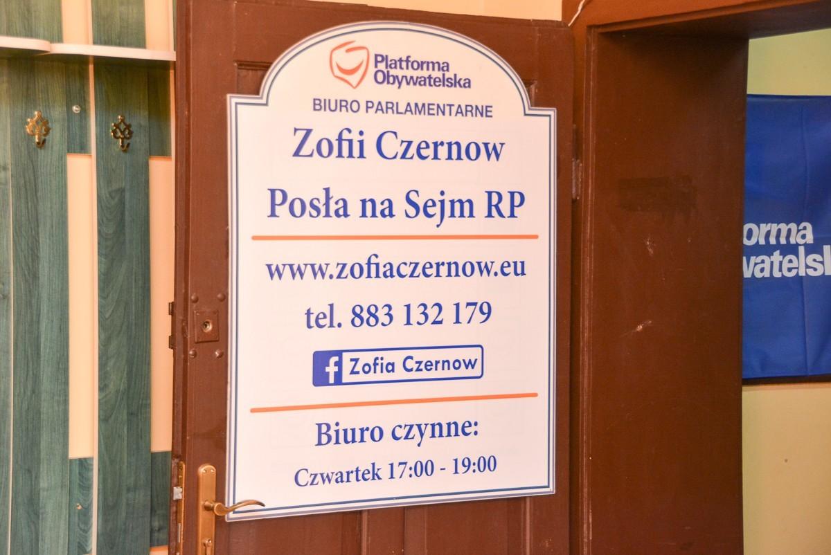 Biuro posłanki PO Zofii Czernow otwarte