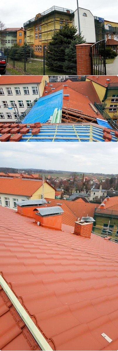 Szkoła z nowym dachem