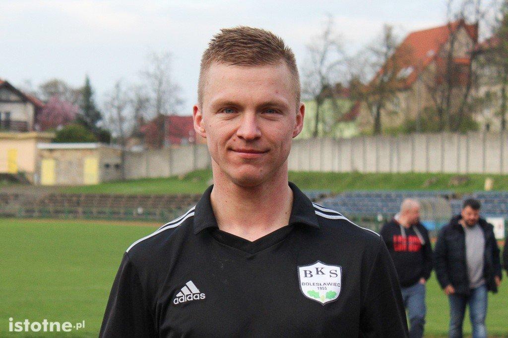 Mirosław Markowski - strzelec dwóch goli w meczu z Chrobrym Nowogrodziec