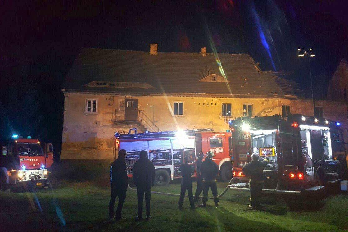 Pożar w Raciborowicach Dolnych
