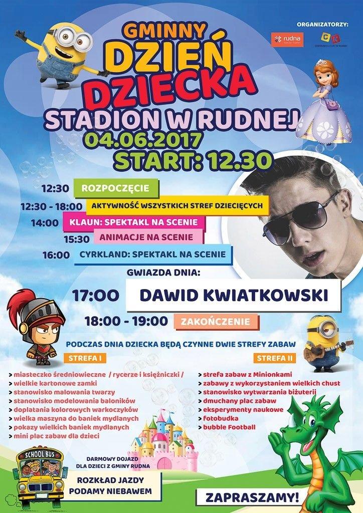 Dzień Dziecka w Rudnej. Gwiazdą Dawid Kwiatkowski!