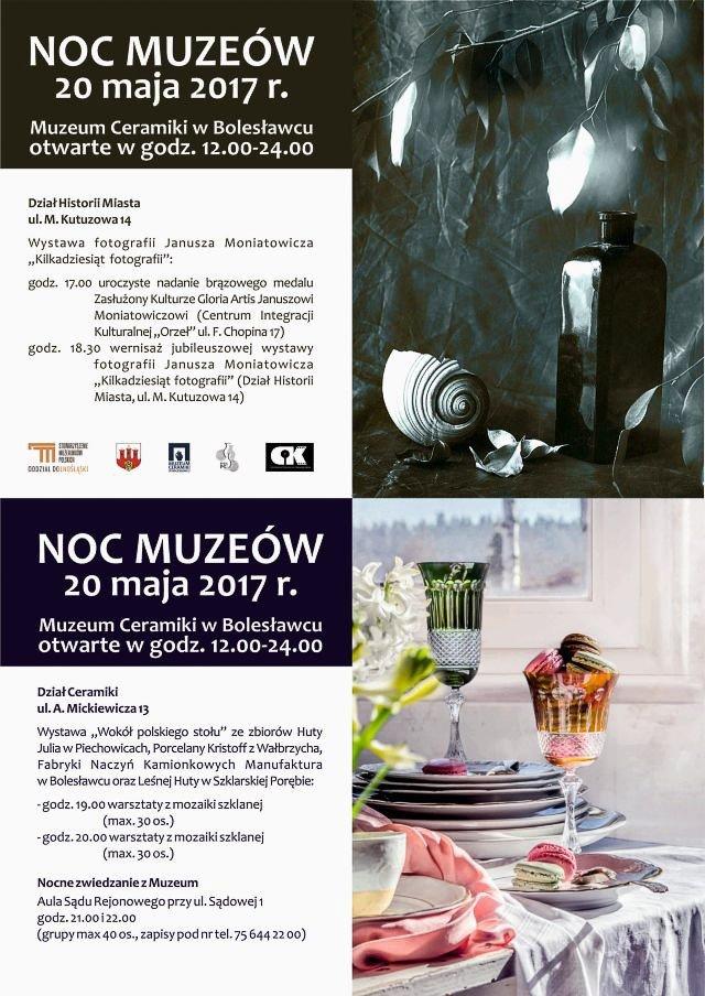 Noc Muzeów w Bolesławcu i Gloria Artis dla Janusza Moniatowicza