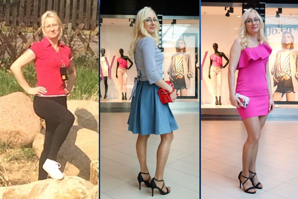 Teresa Stychno przed i po metamorfozie z Galerią BC Center