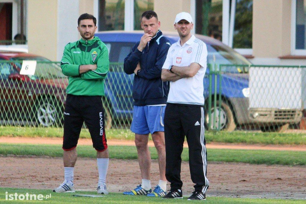 Trenerzy wojskowej kadry: Grzegorz Tychowski, Sebastian Tylutki i Jakub Wołyński