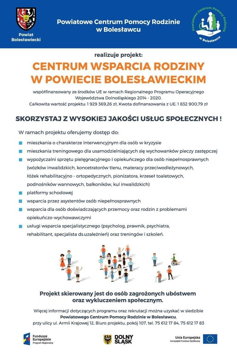 PCPR - Projekt Centrum Wsparcia Rodziny w Powiecie Bolesławieckim