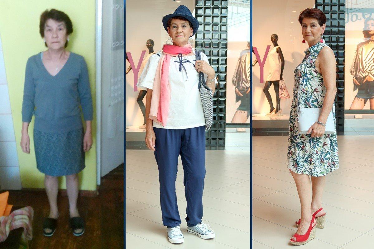 Maria Wołoszyn przed i po metamorfozie z Galerią BC Center