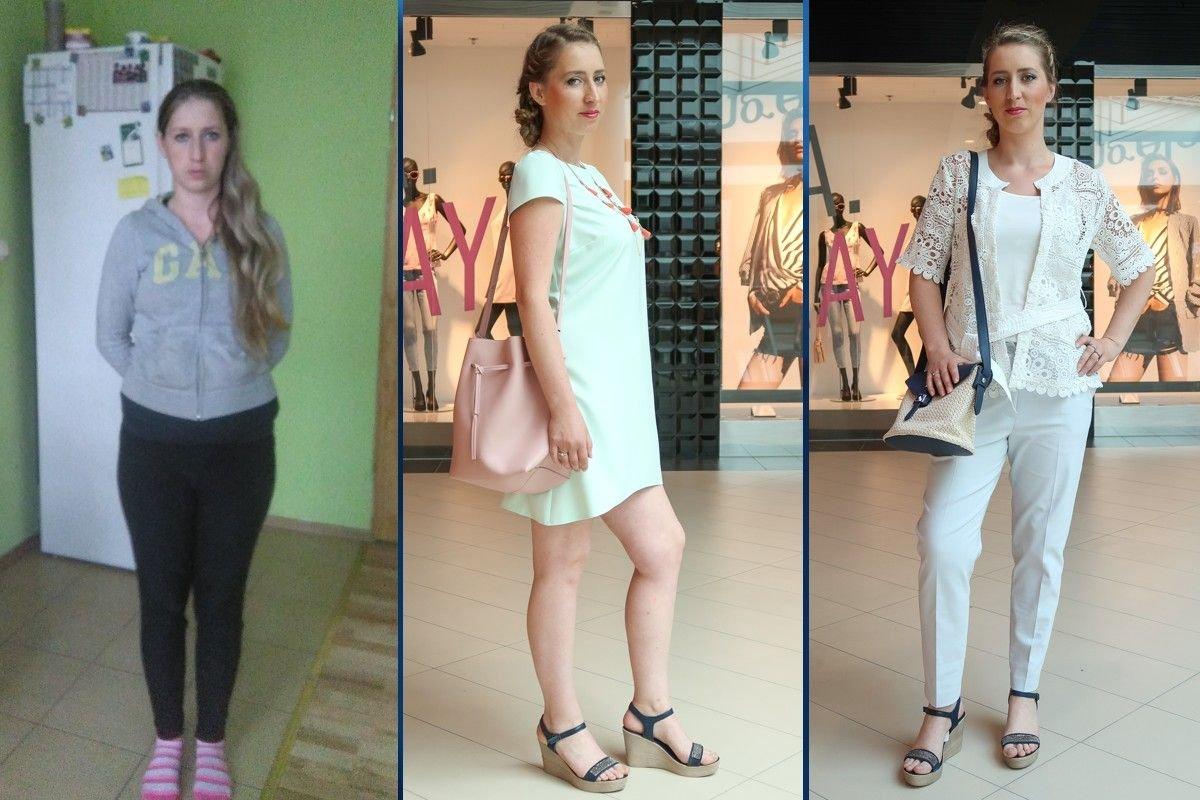 Paulina Drzewiecka przed i po metamorfozie z Galerią BC Center
