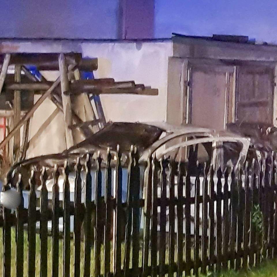 Pożar auta w Tomisławiu