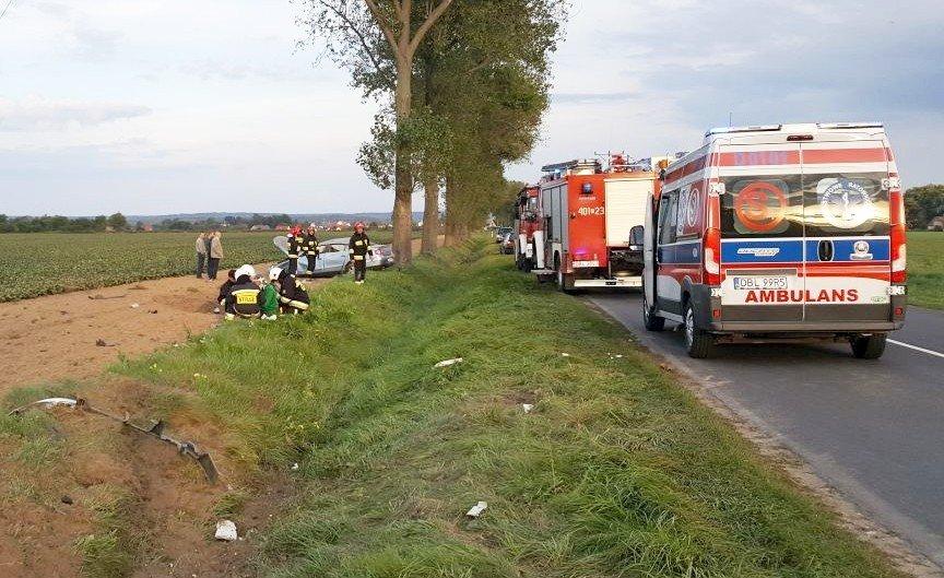 Kolejny wypadek przed Wartą. Auto wypadło z drogi