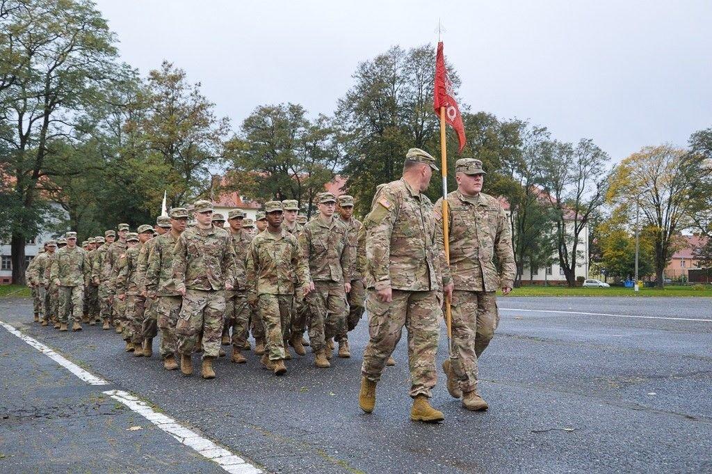 Artylerzyści powitali żołnierzy US Army i pożegnali ppłk. Radzimierskiego