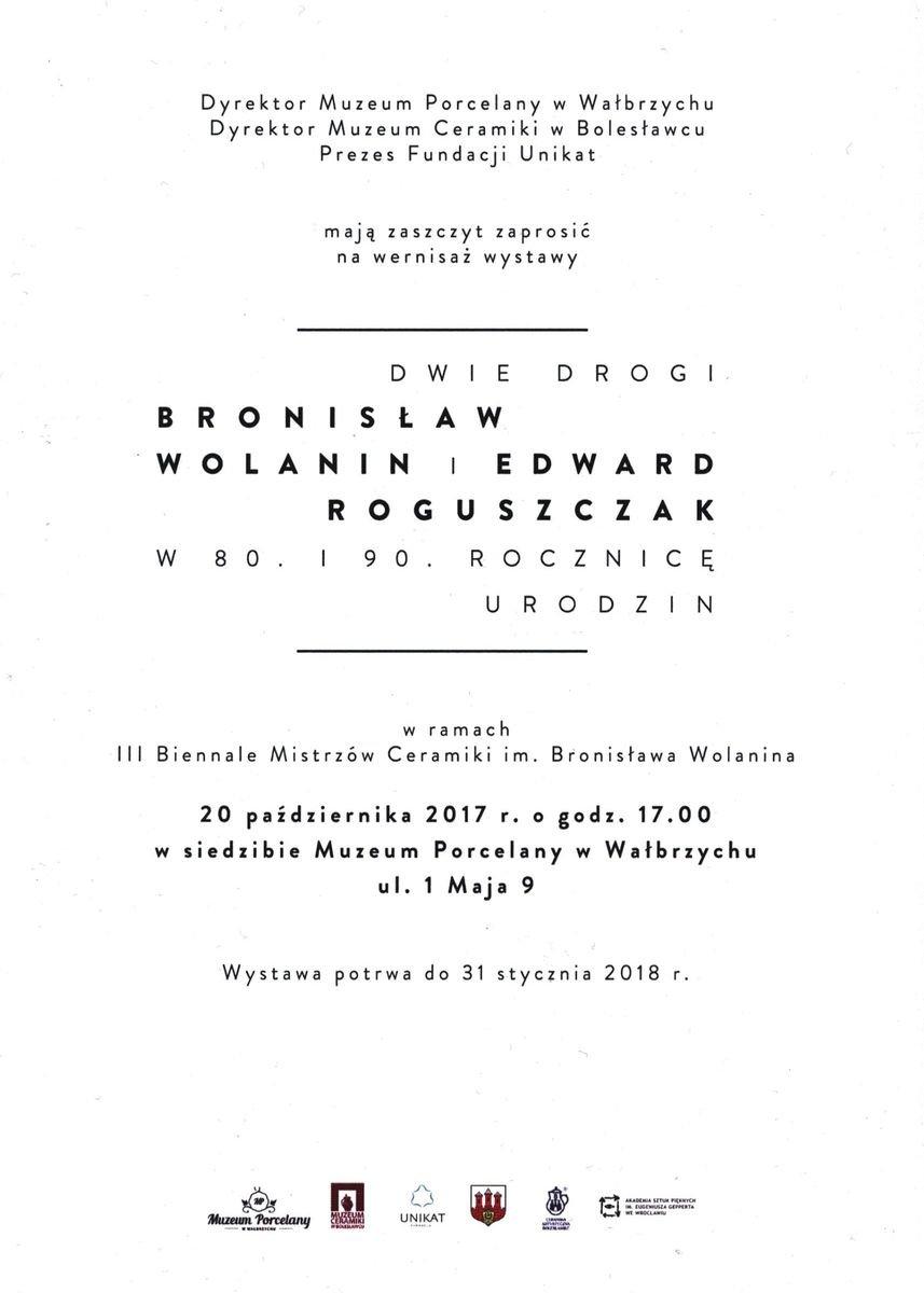 Plakat wystawy prac Bronisława Wolanina