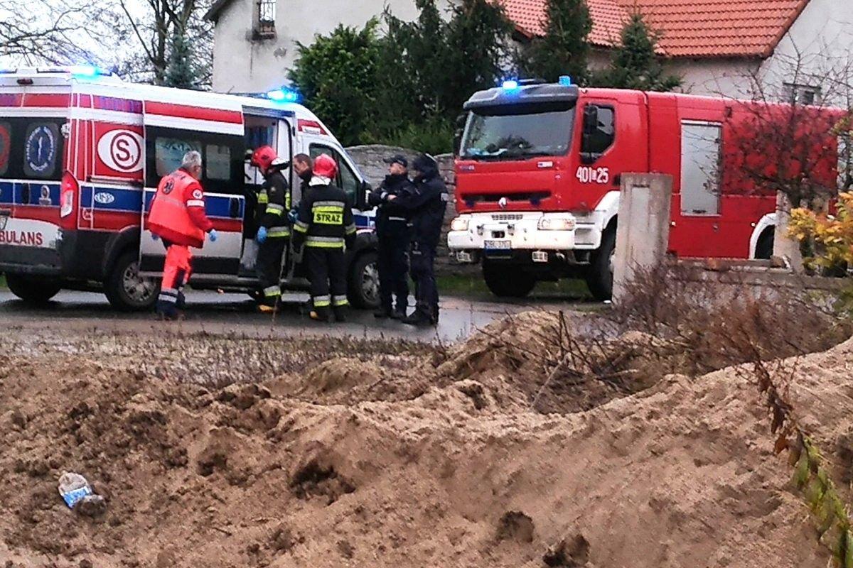 Wybuch pieca, jedna osoba ranna