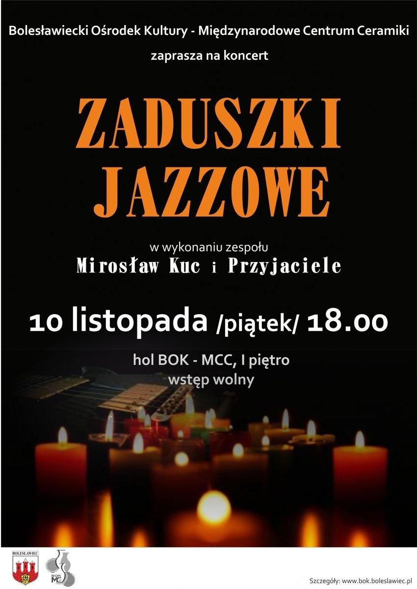 Plakat zaduszki Jazzowe