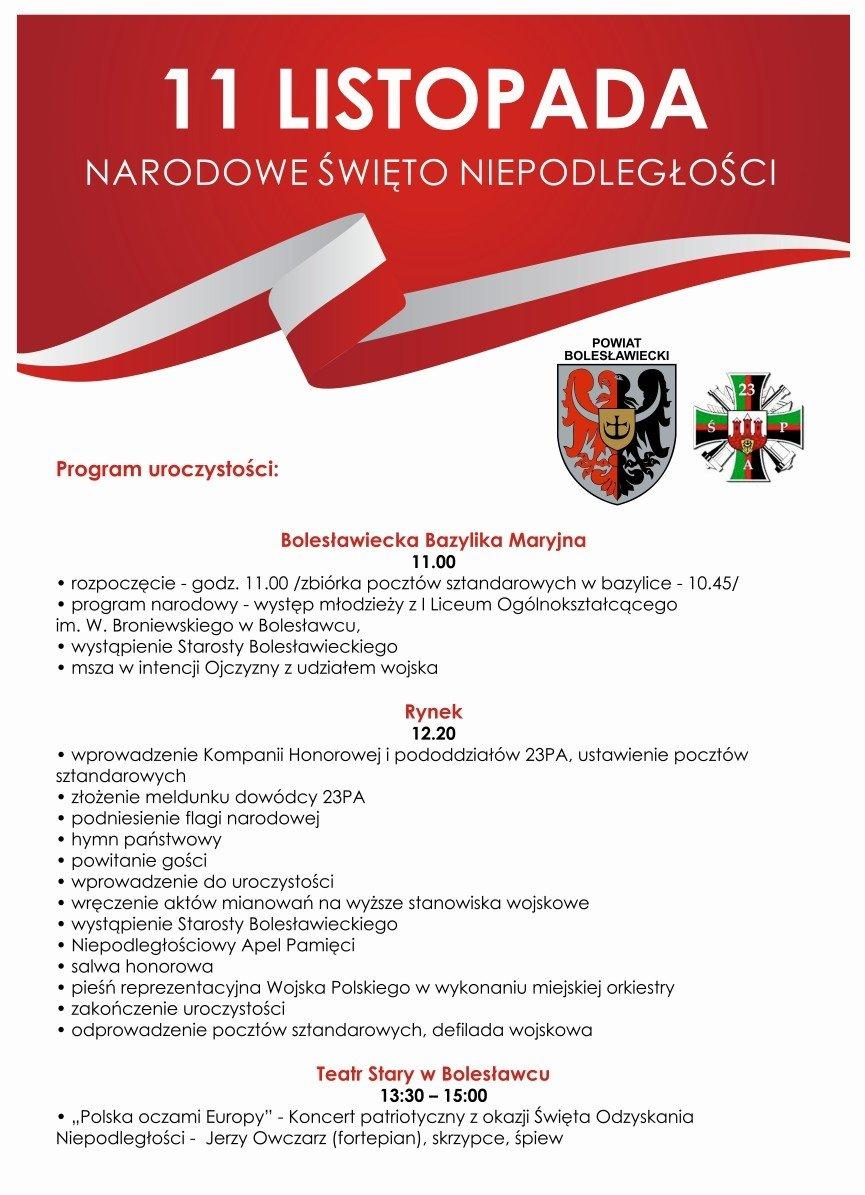 Bolesławieckie obchody Narodowego Święta Niepodległości