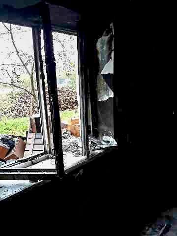 Spłonęła część domu w Przejęsławiu (gmina Osiecznica)