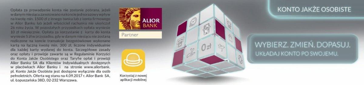 Konto Jakże Osobiste w Alior Banku