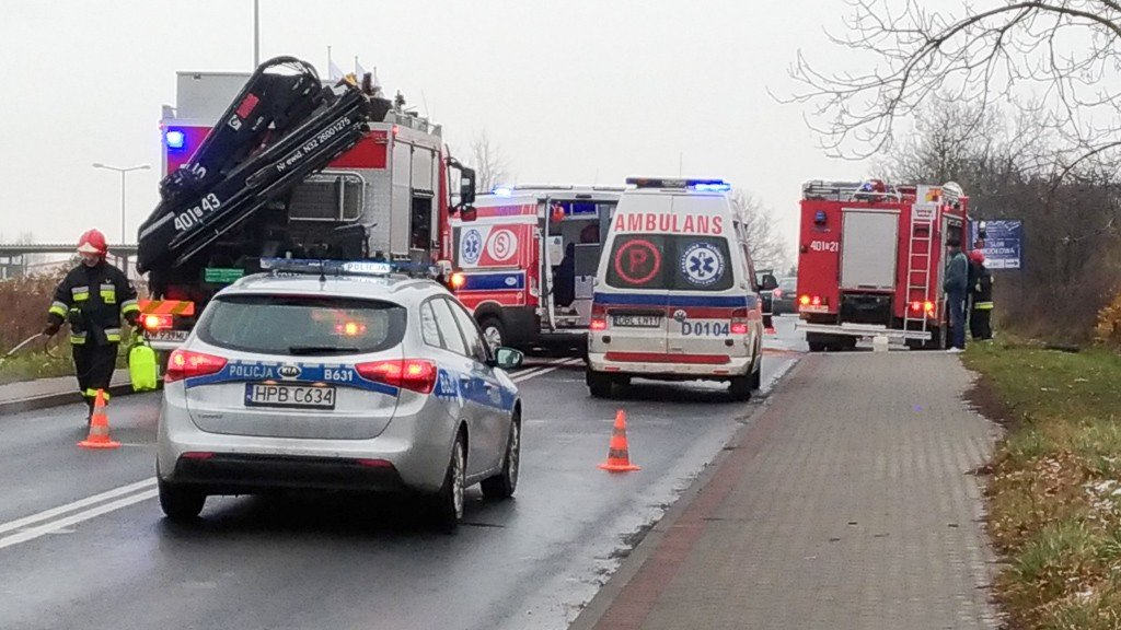 Wypadek na ul. Modłowej w Bolesławcu