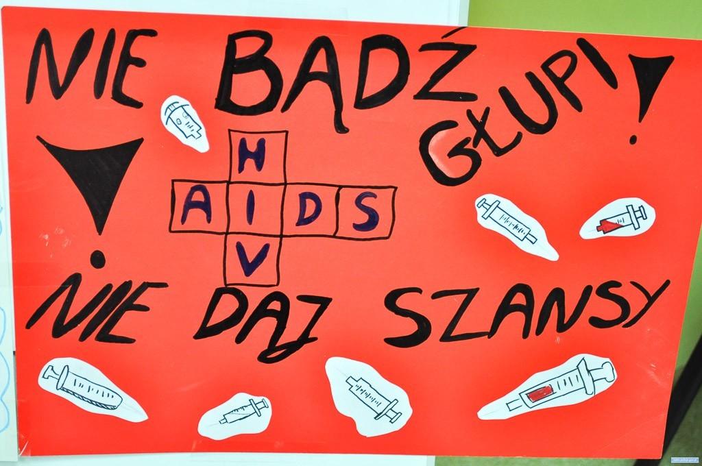 O AIDS w lubińskich szkołach