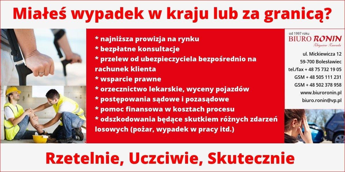 Odszkodowania - Biuro Ronin Bolesławiec
