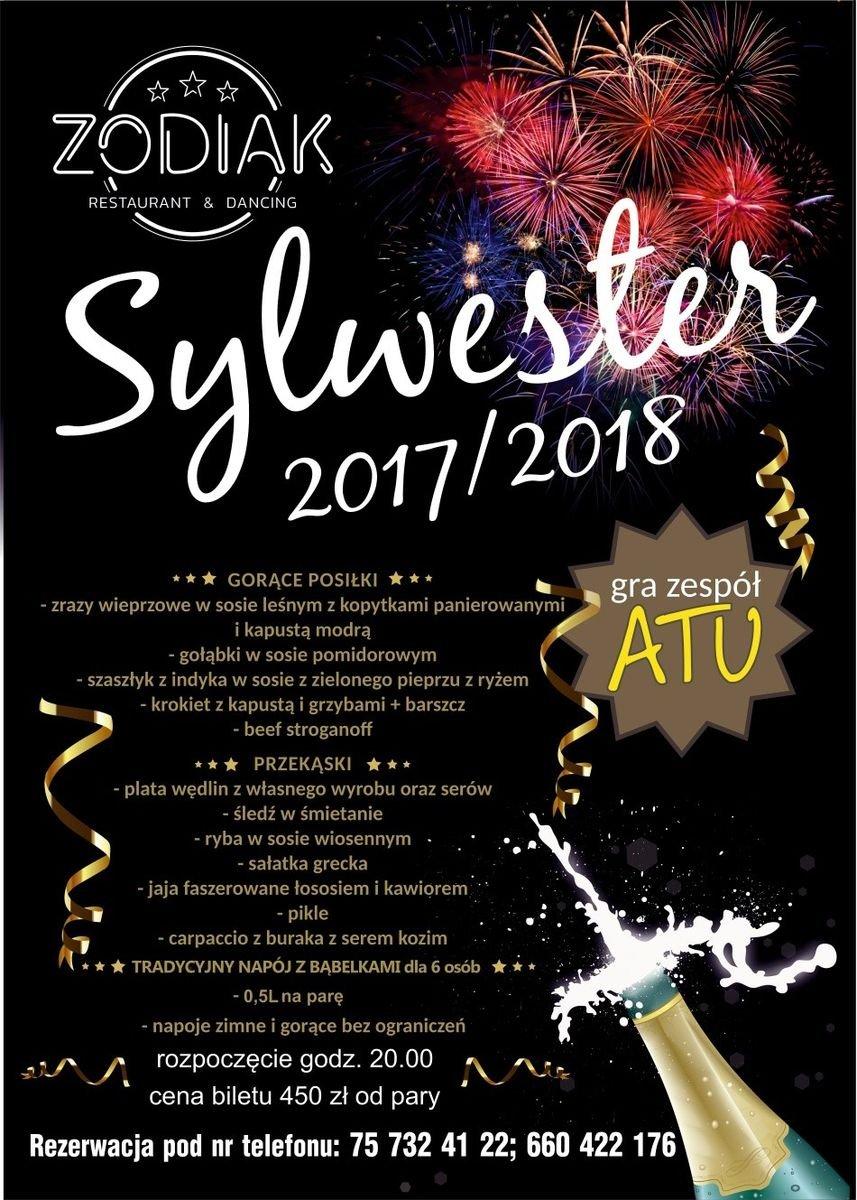 Sylwester 2017/2018 w Restauracji Zodiak