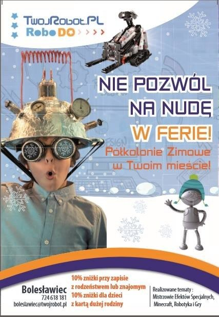 Plakat ferie Twój Robot