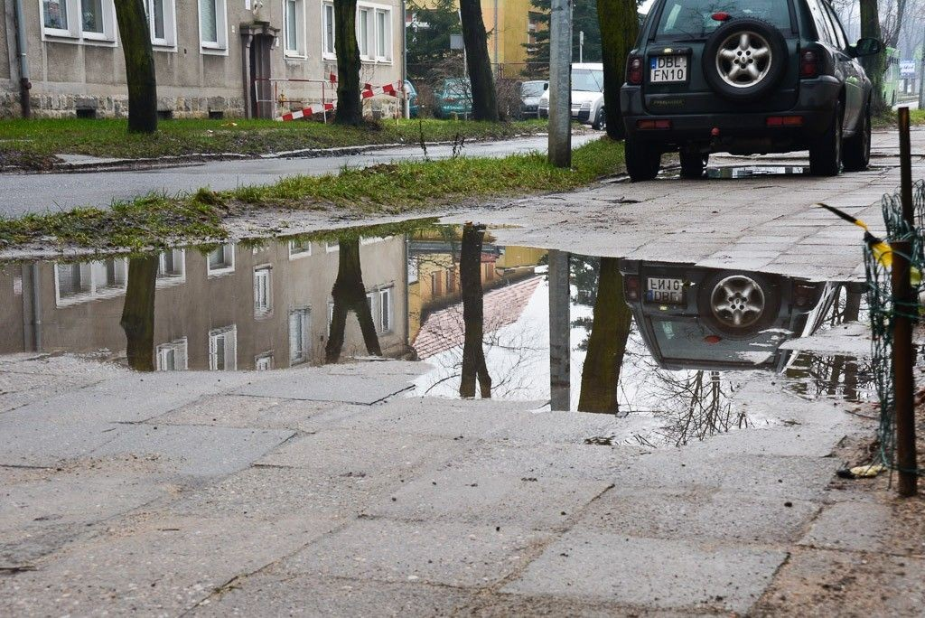 Masakryczna ulica Dolne Młyny w Bolesławcu