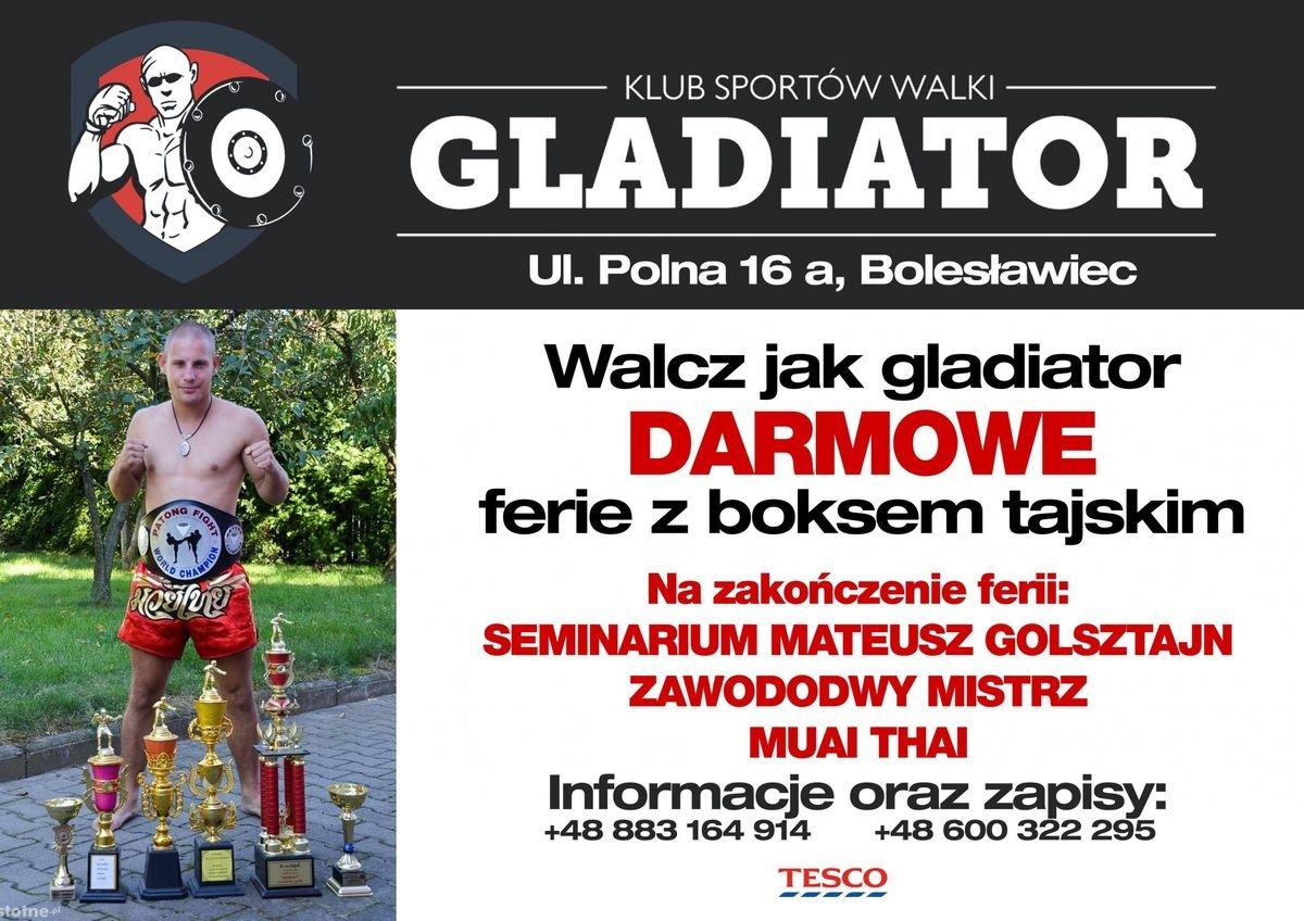 Darmowe ferie z KSW Gladiator Bolesławiec