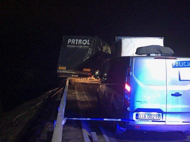 Wypadek na trasie Polkowice-Lubin