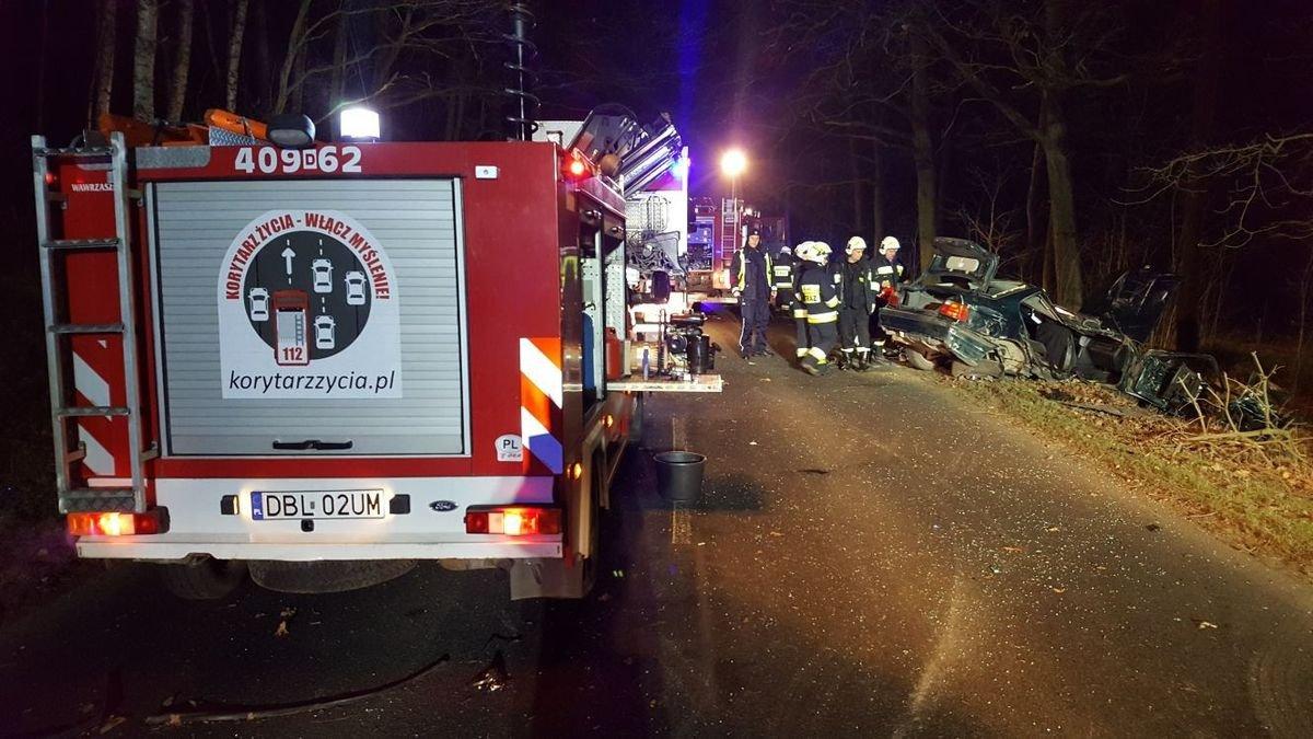 Wypadek między Brzeźnikiem a Zabłociem, 2 osoby ranne