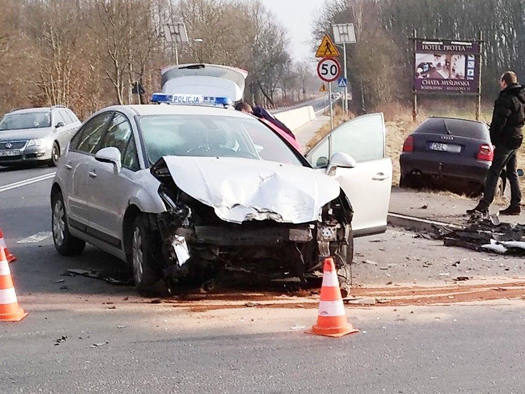 Zderzenie aut na ul. Kościuszki