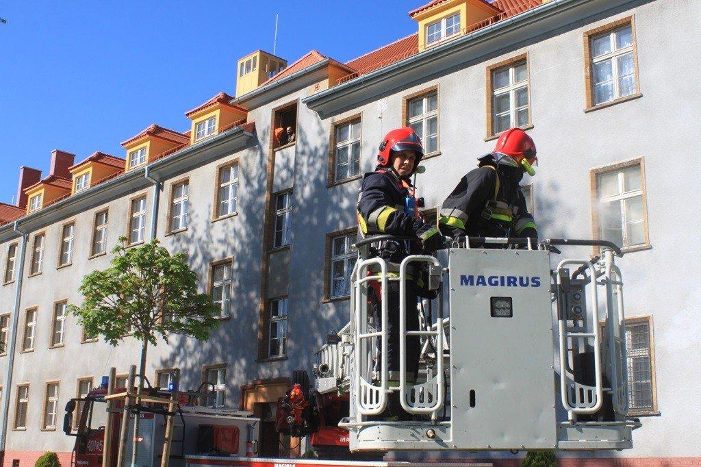Alarm pożarowy w 23 Śląskim Pułku Artylerii z-index: 0