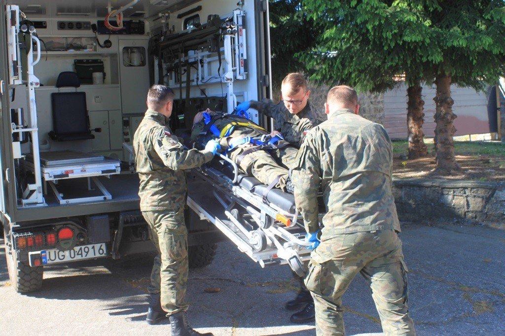 Alarm pożarowy w 23 Śląskim Pułku Artylerii