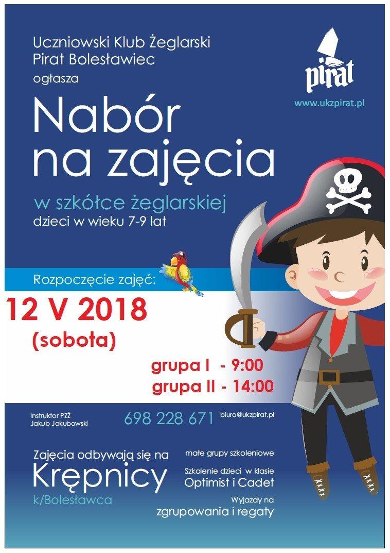 Uczniowski Klub Żeglarski Pirat rozpoczyna nabór do szkółki żeglarskiej