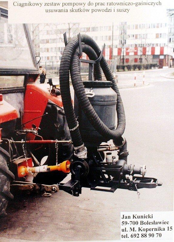 Pompa zamontowana na traktorze