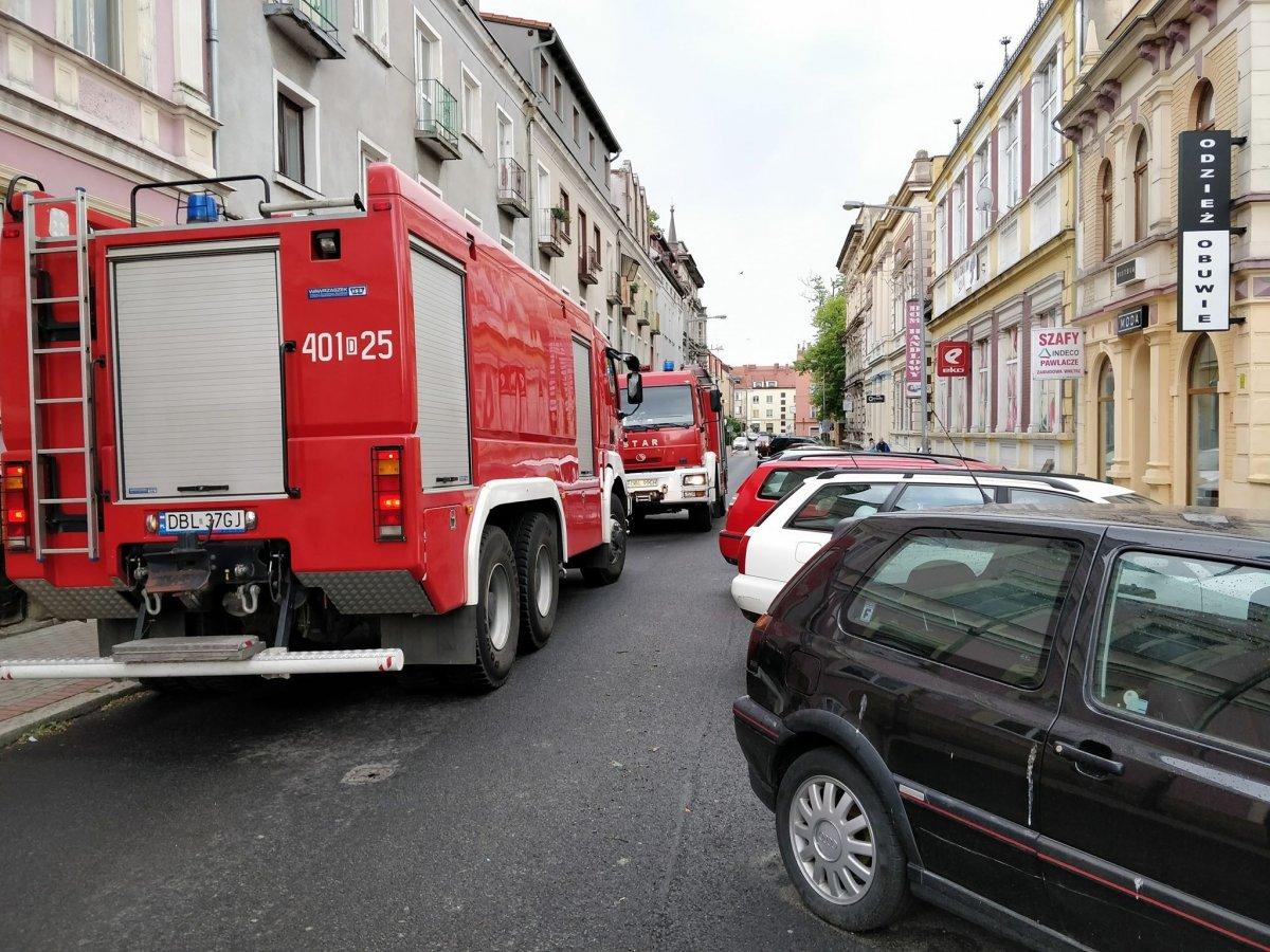 Straż pożarna na ul. Mickiewicza
