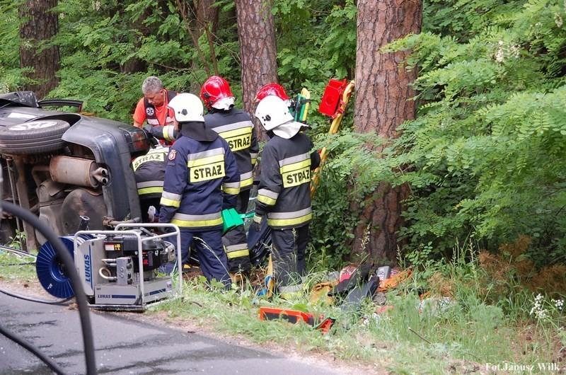 Wypadek za Dobrą k. Bolesławca