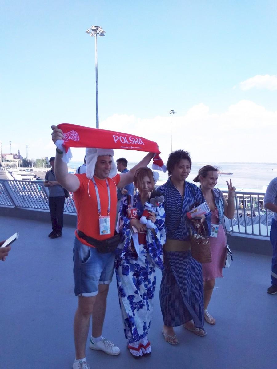 Mecz Polska - Japonia w Wołgogradzie