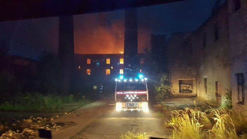 Nawałnica i pożar byłej klinkierni w Nowogrodźcu z-index: 0