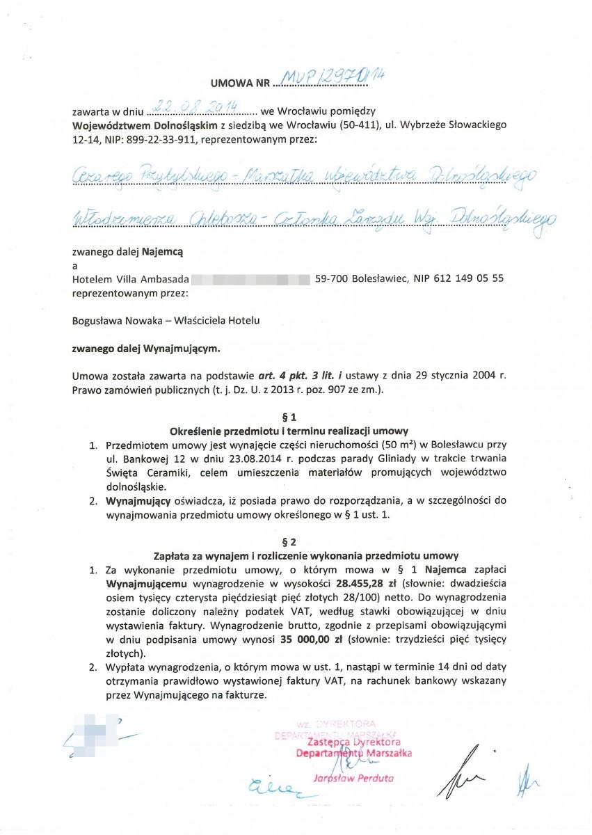 Dokumenty w sprawie Gliniady w 2014 roku w Bolesławcu