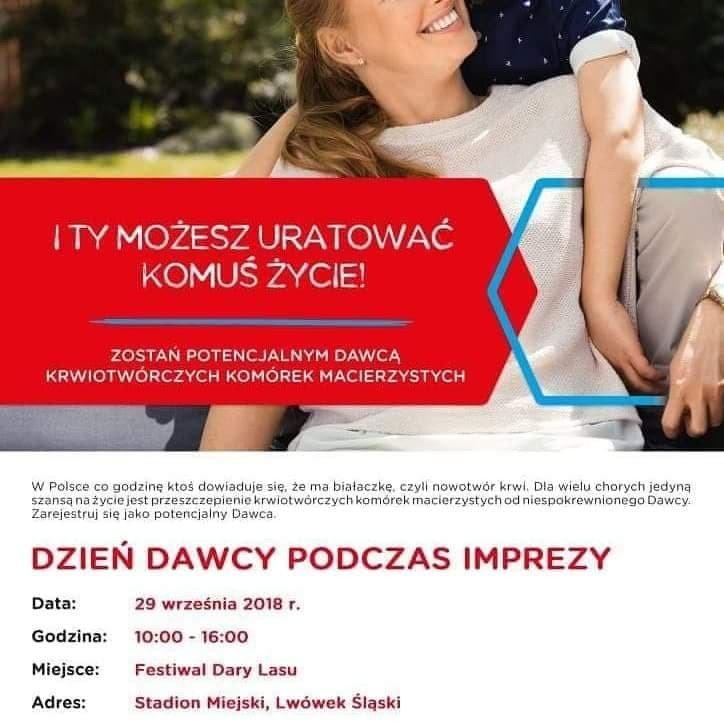 Pomóż chorym na białaczkę. Dzień Dawcy Szpiku w Lwówku