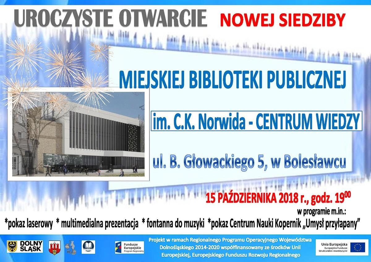 Uroczyste otwarcie Centrum Wiedzy już w ten poniedziałek! z-index: 0
