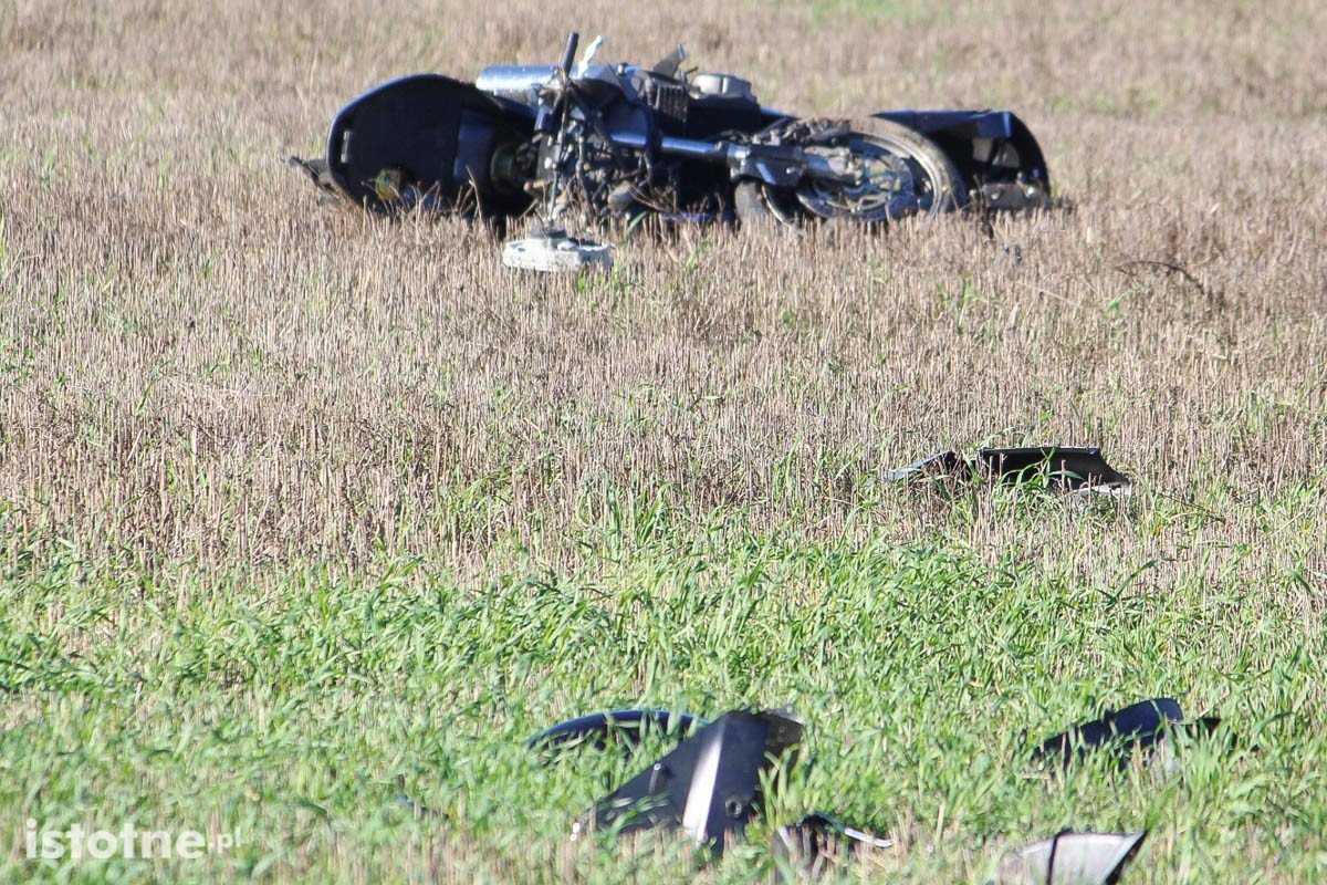 Wypadek motocyklisty w Kraśniku Górnym